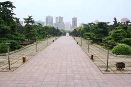 Landschap van chinese park. Stad Changsha. Provincie Hunan. China is.