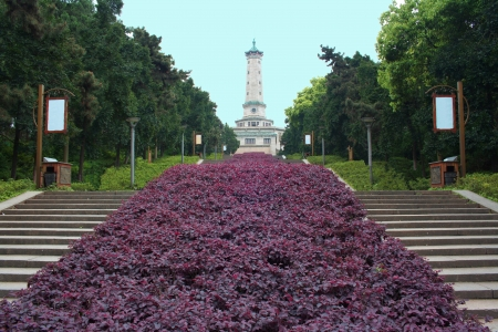 Landscape of chinese park  Changsha city  Province of Hunan  China