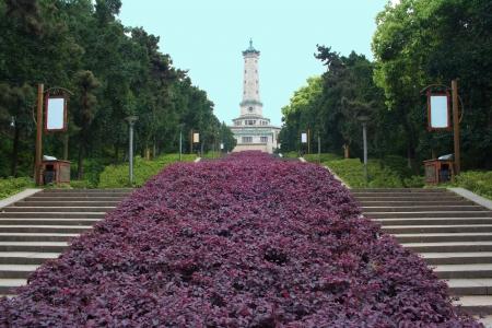 Landscape of chinese park  Changsha city  Province of Hunan  China