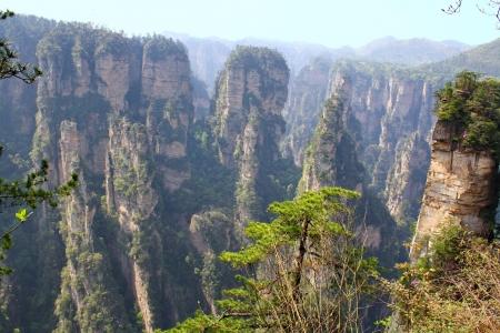 Zhangjiajie oude bergen De provincie Hunan China is Stockfoto