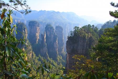 Mysterious Mountain Zhangjiajie. The province of Hunan. China