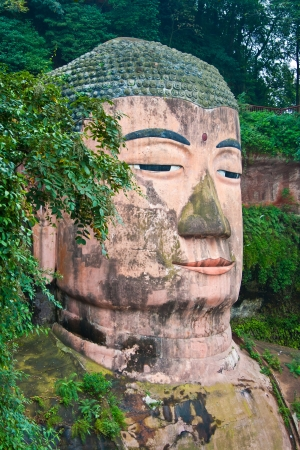 The giant buddha of leshan  Sichuan province  China  Stock Photo