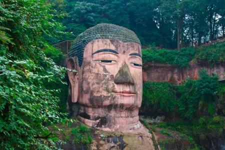 Boeddha van Leshan De provincie Sichuan China