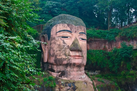 Buddha of Leshan The Province of Sichuan China Stock Photo