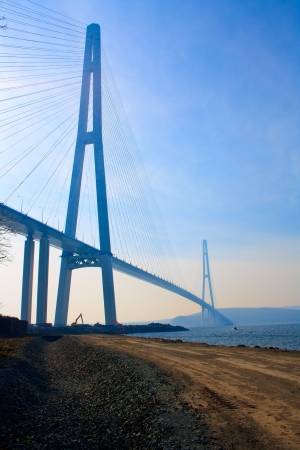 Bridge to Russky island. Vladivostok city. Russia. Stock Photo - 16755383