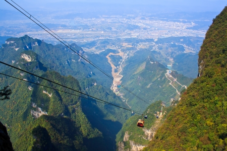 At the Heavenly mountain. Zhangjiajie. China.