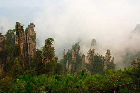 Mysterious Mountains Zhangjiajie. The province of Hunan. China