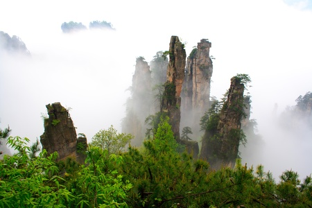 Mysterious Mountains Zhangjiajie  The province of Hunan  China  Stock Photo