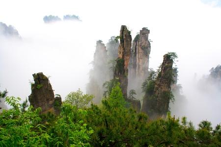 Mysterious Mountains Zhangjiajie  The province of Hunan  China  Stock Photo
