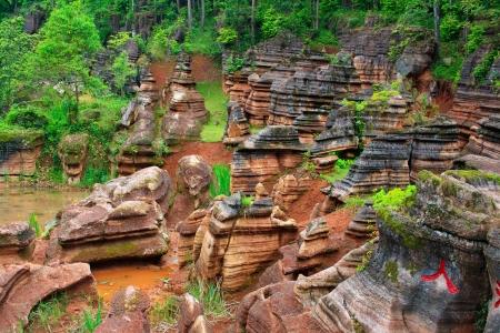Red rocks of Zhangjiajie. Province of Hunan. China.
