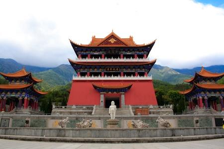 Little Buddha statue in Chongshen monastery. Dali. Yunnan province. China. photo