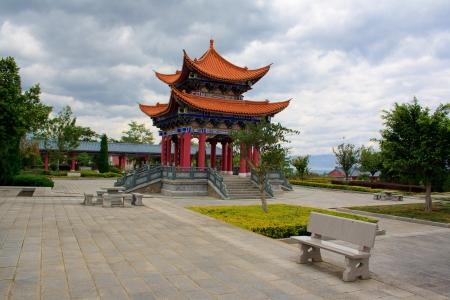 The Buddhist pavilion in Chongshen monastery. Dali. Yunnan province. China.
