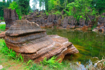 Red rocks of Zhangjiajie  Province of Hunan  China