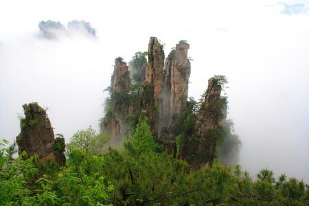 Mysterious Mountains Zhangjiajie The province of Hunan China
