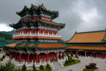 Buddhist temple on the Heavenly mountain  Zhangjiajie  China