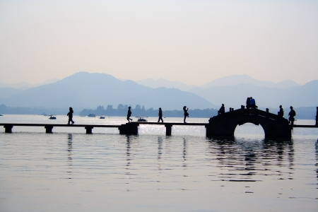 Landscape of West lake  Hangzhou  China  Stock Photo