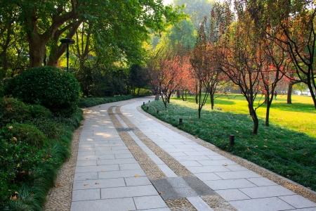Landschap van West Lake Hangzhou China Stockfoto