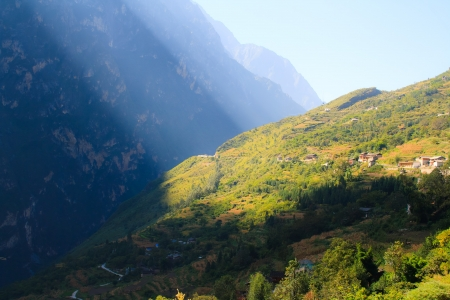 Morning in Tiger Leaping Gorge  Tibet  China