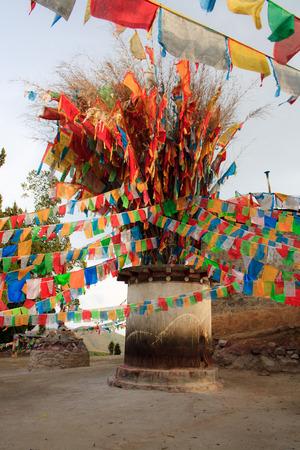 In Tibetaans klooster Shangri-la China Stockfoto