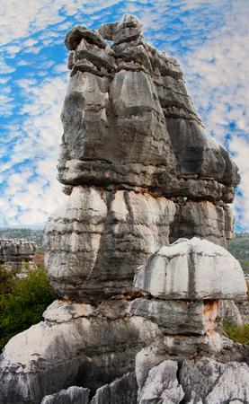 Shi Lin stone forest national park  Kunming  China  Stock Photo