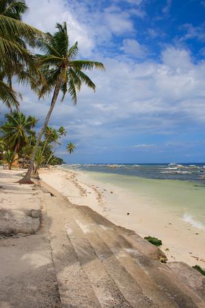 Beach on a tropical island. Philippines.