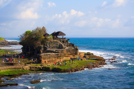 Ta-nah Lot Temple, Bali, Indonesia Stock Photo