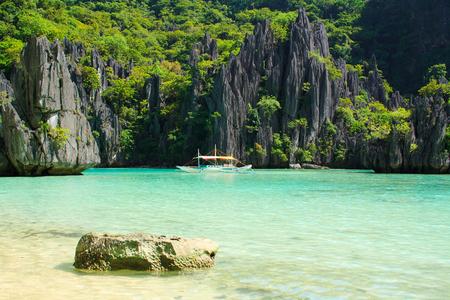 Landschap van El Nido. Palawan eiland. Filippijnen. Stockfoto