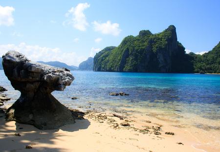 palawan: Paisaje de El Nido. La isla de Palawan. Filipinas. Foto de archivo