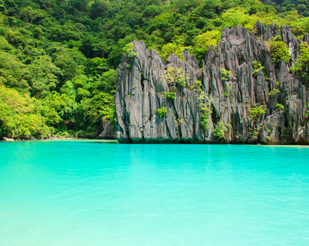 philippines: Landscape of El Nido. Palawan island. Philippines.