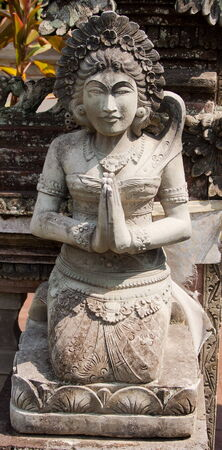 balinese: In the Balinese temple. Bali. Indonesia. Stock Photo