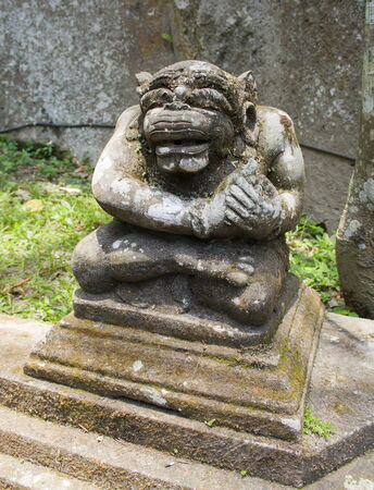 padma: Ancient stone sculpture in the Balinese temple. The island of Bali. Indonesia. Stock Photo