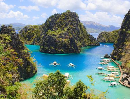 Landscape of tropical island. Coron island. Philippines.