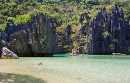 Landscape of tropical island. Palawan island. Philippines.