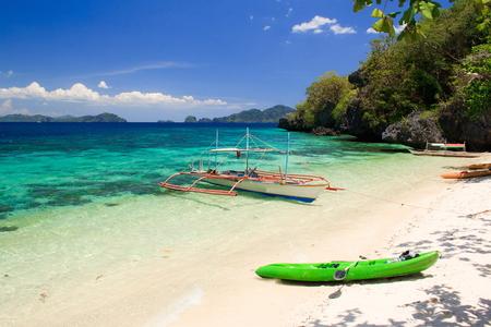The coast of the tropical island. El Nido. Palawan island. Philippines. Stock Photo