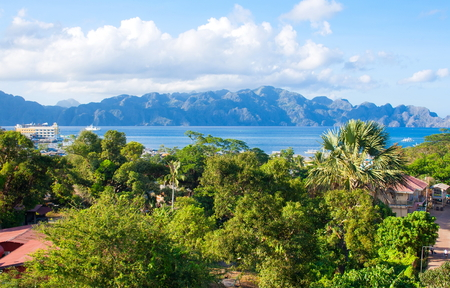 The coast of the tropical island. Coron island. Philippines.