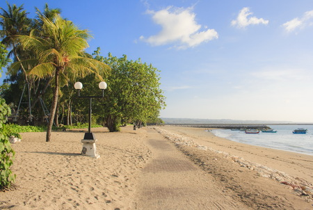 The Road in the beach of Kuta. The island of Bali. Indonesia.