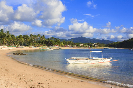 Landscape of the beach of Nacpan, Philippines
