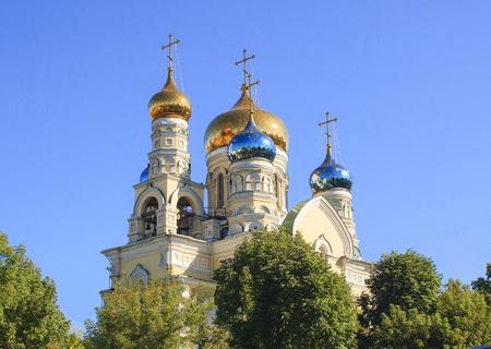 Orthodox Christian Pokrovsky Temple. Vladivostok. Russia.
