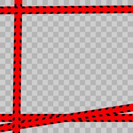Police Line Red. Vector illustration  イラスト・ベクター素材