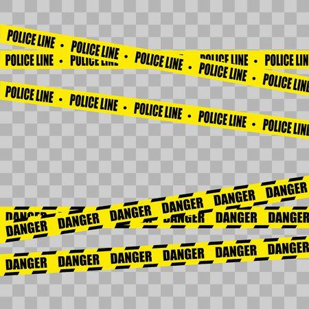 Police Line Set Vector illustration
