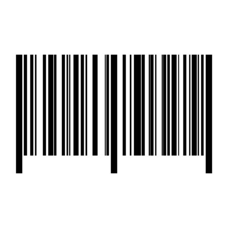 Realistic bar code icon. A modern simple flat barcode. Vector illustration 矢量图像