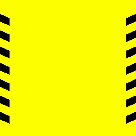 Black and yellow warning line striped rectangular background, yellow and black stripes on the diagonal, a warning to be careful of the potential danger vector template sign border. Vector illustration
