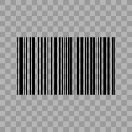 Barcode isolated on transparent background. Vector icon . Vector illustration.