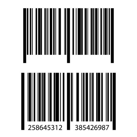 Realistic barcode set icon. Barcode vector illustration.