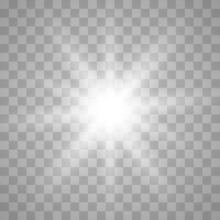 Glowing light burst explosion with transparent.Bright star. Transparent shine gradient glitter, bright flare. Glare texture. Vector illustration.
