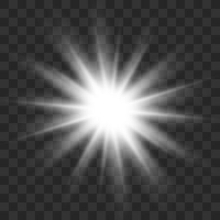 Glowing light burst explosion with transparent.Bright star. Transparent shine gradient glitter, bright flare. Glare texture. Vector illustration. 矢量图片