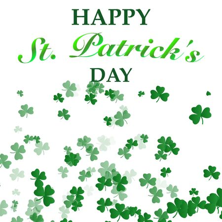 St. Patricks Day Background with lettering text decoration. Saint Patricks day. Vector illustration .