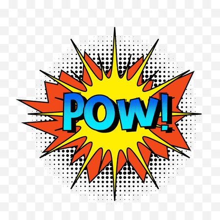 Comic speech bubbles or sound replicas.Vector cartoon explosions with different emotions. Vector illustration Illustration