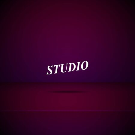 Empty studio room background for display your products. Vector illustration