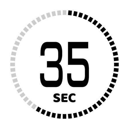 The 35 seconds, stopwatch icon, digital timer. Digital Countdown Timer Vector Icon. Clock and watch, timer.